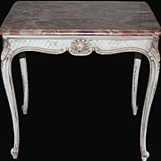 Painted French Provincial Marble Top Table