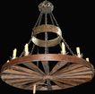 Rustic Wheel Form Chandelier