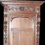 Henri II Oak Hunt Cabinet