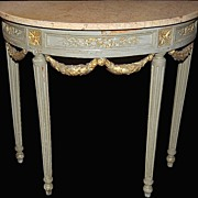 Painted Louis XVI Console