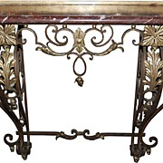 Fine Quality French Iron Console