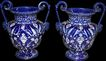 Pair of Continental Cobalt Vases