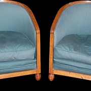 SALE Pair of Art Deco Club Chairs