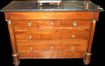 Empire Mahogany Marble Topped Commode