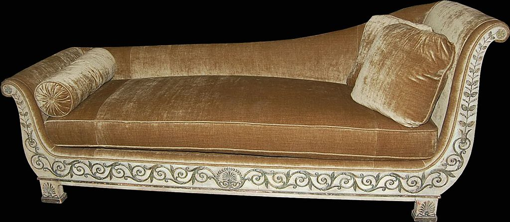 Superb Directoire` Chaise Lounge