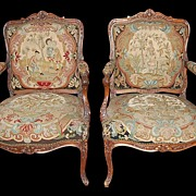 Pair French Fauteuil