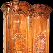 18th Century Regence Carved Walnut Armoire