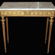 French Gilded Console Table