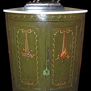 Decorative Painted Corner Cabinet