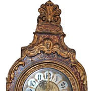 Fabulous Italian Painted Wood Mantle Clock
