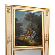 French Painted Trumeau