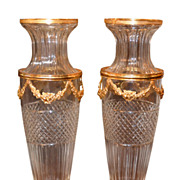 Fine Pair Baccarat Style Vases