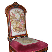 Charming Needlepoint Vanity Chair