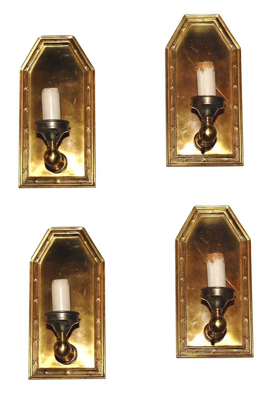 Set of 4 Brass Sconces from legacy on Ruby Lane