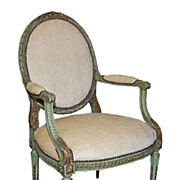 Painted Louis XVI Armchair