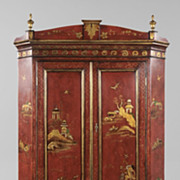 English Chinoiserie Corner Cabinet