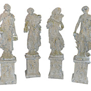 Set of French 4 Seasons Statues
