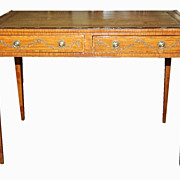 English Adams Painted Desk