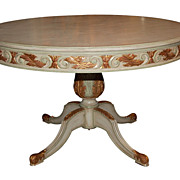 Decorative Painted Breakfast Table