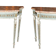 Pair Italian Painted Consoles