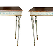 Pair Swedish Painted Consoles