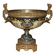 Fine Bronze Mounted Faience Centerpiece