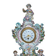 Late 19th Century German Porcelain Clock