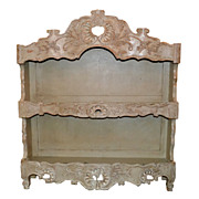 French Carved & Painted Shelf
