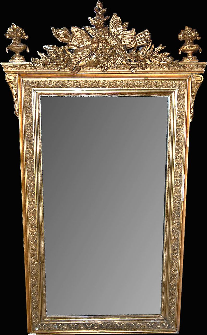 19th Century Louis XV Gilt Mirror