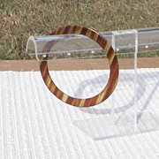 Extra Small Faux Tortoise Shell Spacer Bangle