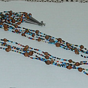 Native American Inspired Seed Beads and Seeds/Pits Necklace