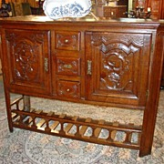 Antique French Buffet with Pannetiere Base-Early 1800's