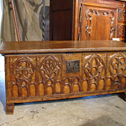Early 1800s Gothic Trunk from France