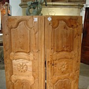 Antique French Pine Cabinet Doors