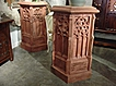 Pair of Painted Gothic Pedestals From France