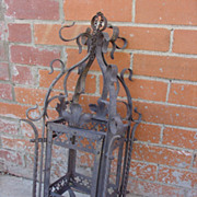 Antique Forged Iron Lantern From France