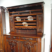 18th Century Walnut Vaisselier, Alsace-Lorraine, France