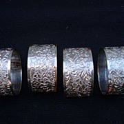 SOLD Vintage Silver Plated Napkin Rings Set of Four