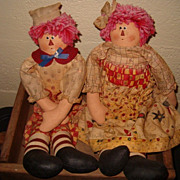 Gruelle Style Raggedy and Andy Doll Circa 30s - 40's
