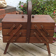 Vintage Expandable Sewing Box