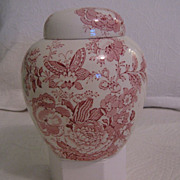 SALE Vintage English Transferware Ginger Jar by Maling Newcastle on Tyne England
