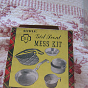 Vintage Official Girl Scout Mess Kit In Original Box!! 1950's