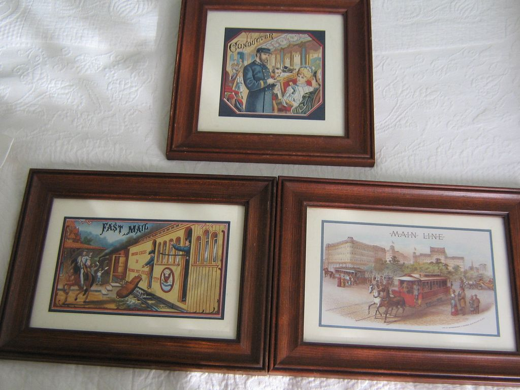 Group of 3- Railroad Prints ca: 1986 Specialty Press Milwaukee, WI