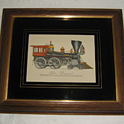 SALE 1980's Era Print of &quot;The General&quot; Train Engine from Civil War History