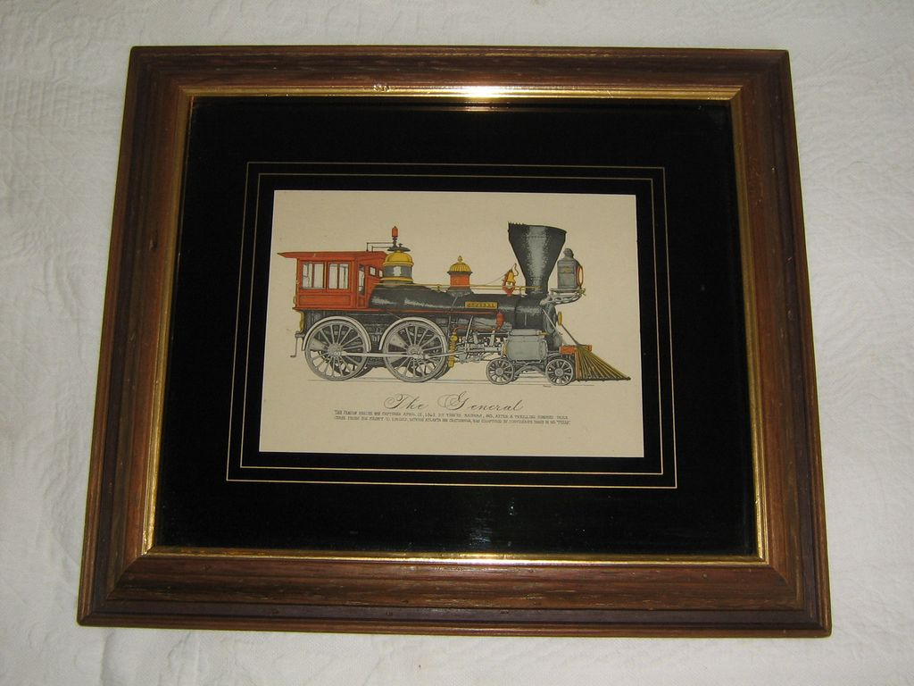 "1980's Era Print of ""The General"" Train Engine from Civil War History"