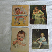 Children & Mother Vintage Prints~ 1930's Lithographs  Set of 6