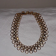 SALE Trifari Necklace  16&quot; x 1&quot; ~ Vintage Beauty~ Wide & Wonderful!!