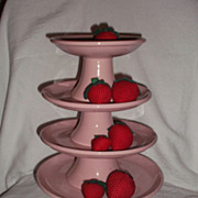 SALE Mid Century Cake Stands ~ Assorted sizes~` Pink Ironstone Restaurant Ware