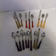 Bakelite Flatware Assorted Pieces in Assorted Colors~ Vintage & Fabulous!