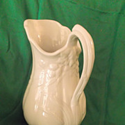 SALE J & G Meakin Large Ironstone Wheat & Hops China Pitcher 1852-1860 Mark
